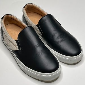 Greats Wooster Leather Wool Slip On Sneaker Shoe